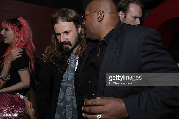 writer/director Rob Zombie and Ken Foree at the world premiere after party of 'Halloween' at the Geisha House on August 23 2007 in Hollywood...