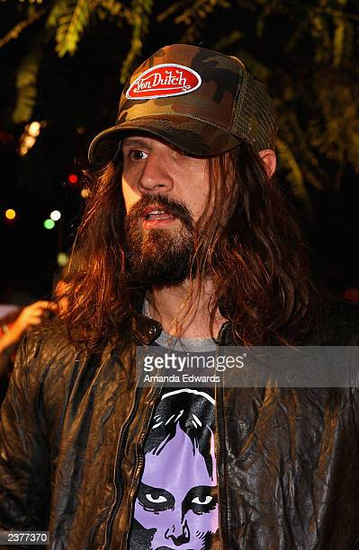 Writer/director Rob Zombie arrives at the Lions Gate Home Entertainment DVD release party of House of 1000 Corpses at Club AD on August 6 2003 in...