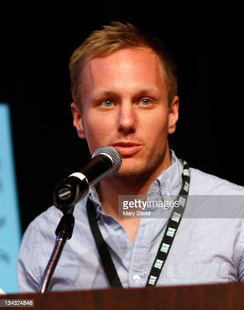 Writer/director Robbie Pickering speaks onstage during the 2011 SXSW Music Film Interactive Festival Film Awards at Vimeo on March 15 2011 in Austin...