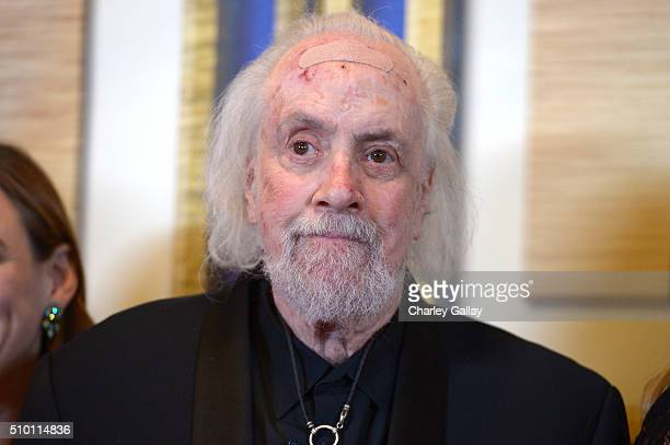 Writer/director Robert Towne poses in the Press Room during the 2016 Writers Guild Awards at the Hyatt Regency Century Plaza on February 13 2016 in...