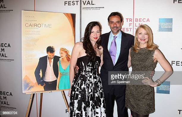 Writer/director Ruba Nadda actress Alexander Siddig and actress Patricia Clarkson attends the 'Cairo Time' premiere during the 9th Annual Tribeca...