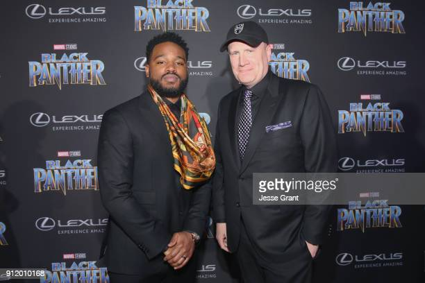 Writer/director Ryan Coogler and Marvel Studios President Kevin Feige at the Los Angeles World Premiere of Marvel Studios' BLACK PANTHER at Dolby...