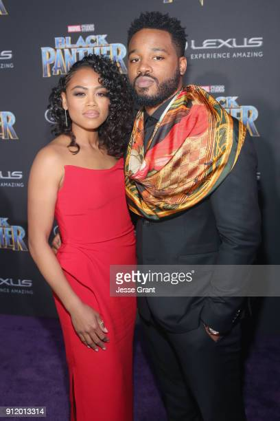Writer/director Ryan Coogler and Zinzi Evans at the Los Angeles World Premiere of Marvel Studios' BLACK PANTHER at Dolby Theatre on January 29 2018...