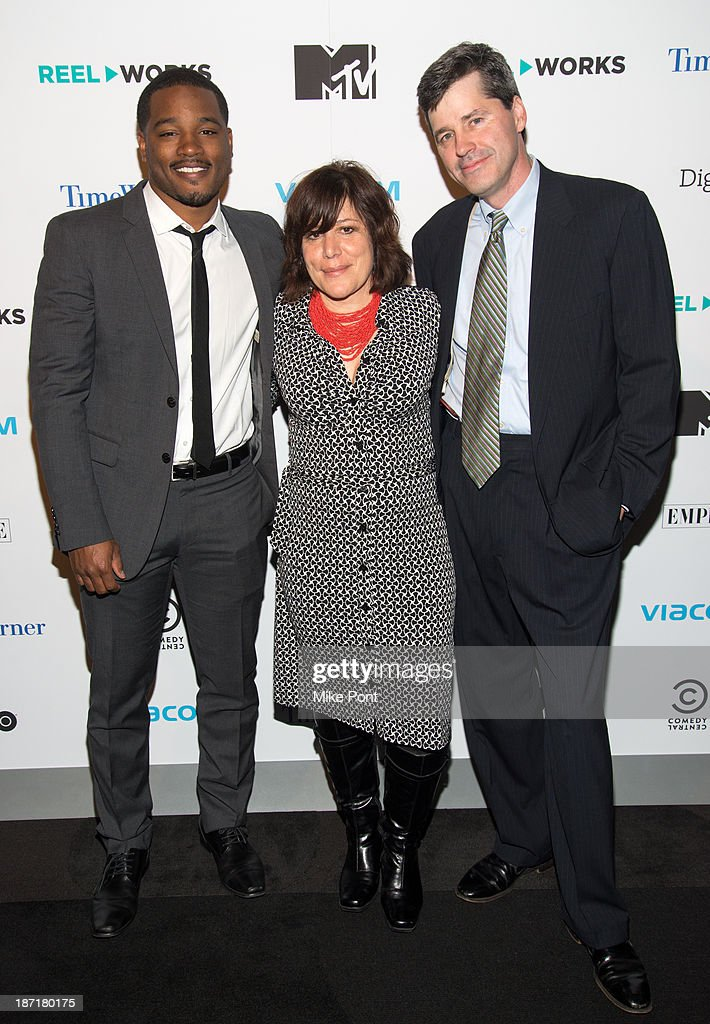 Writer/Director Ryan Coogler, Reel Works Co-Founder/Artistic Director Stephanie Williams, and Reel Works Co-Founder/Executive Director John Williams attend the REEL WORKS 2013 benefit gala at The Edison Ballroom on November 6, 2013 in New York City.