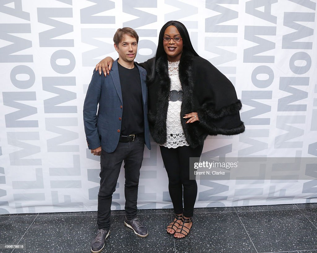 Writer/director Sean Baker (L) and actress Mya Taylor attend the 'Tangerine' New York special screening held at the MoMA Titus One on December 2, 2015 in New York City.