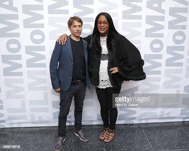 Writer/director Sean Baker and actress Mya Taylor attend the Tangerine New York special screening held at the MoMA Titus One on December 2 2015 in...