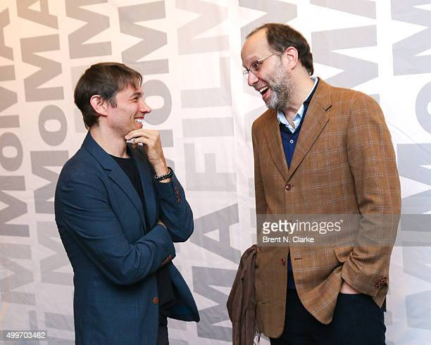 Writer/director Sean Baker and filmmaker Ira Sachs attend the Tangerine New York special screening held at the MoMA Titus One on December 2 2015 in...