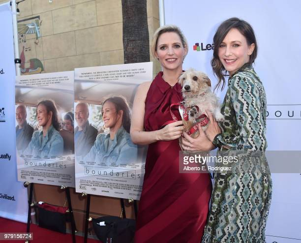Writer/director Shana Feste and actress Vera Farmiga attend the premiere of Sony Pictures Classics' 'Boundries' at American Cinematheque's Egyptian...