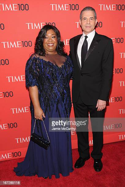 Writer/Director Shonda Rhimes and TIME Managing Editor Richard Stengel atten the 2013 Time 100 Gala at Frederick P Rose Hall Jazz at Lincoln Center...