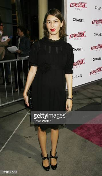 Writer/director Sofia Coppola arrives at a special screening of Columbia Picture's 'Marie Antoinette' hosted by Chanel at the Arclight Theater on...