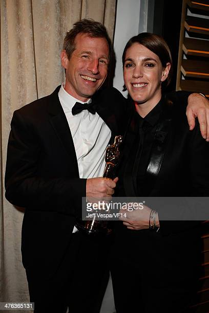 Writer/director Spike Jonze and producer Megan Ellison attend the 2014 Vanity Fair Oscar Party Hosted By Graydon Carter on March 2 2014 in West...