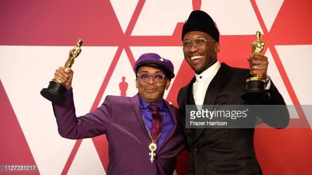 Writerdirector Spike Lee winner of Best Adapted Screenplay for 'BlacKkKlansman' and Mahershala Ali winner of Best Supporting Actor for 'Green Book'...
