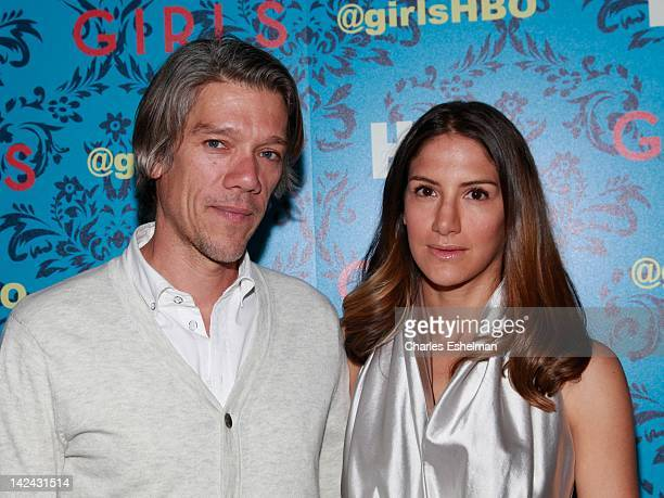 Writer/director Stephen Gaghan and designer Minnie Mortimer attend the HBO with The Cinema Society host the New York premiere of HBO's Girls at the...