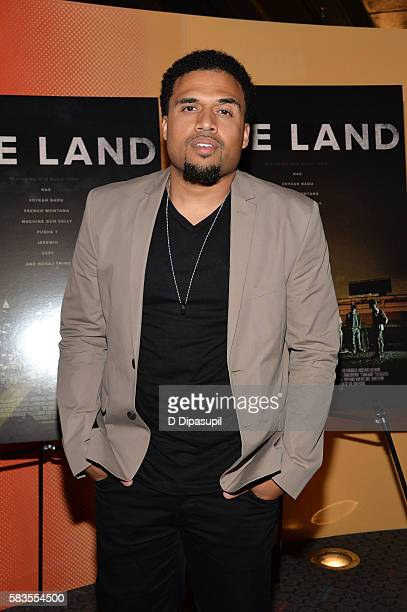 Writer/director Steven Caple Jr attends The Land New York premiere at SVA Theater on July 26 2016 in New York City