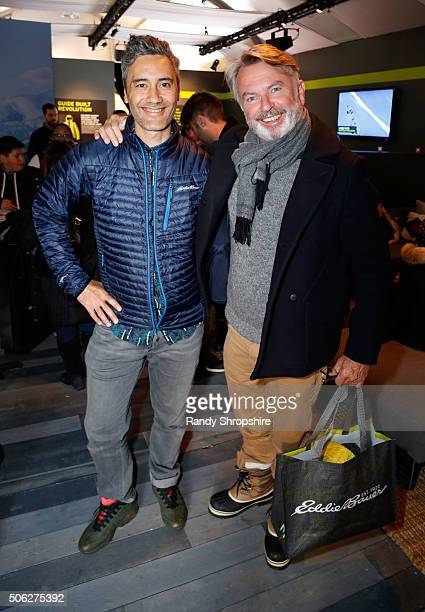 Writer/director Taika Waititi and actor Sam Neill attend the Eddie Bauer Adventure House during the 2016 Sundance Film Festival at Village at The...