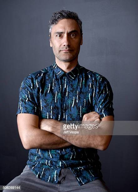 Writer/director Taika Waititi from the film 'Hunt for the Wilderpeople' poses for a portrait during the WireImage Portrait Studio hosted by Eddie...