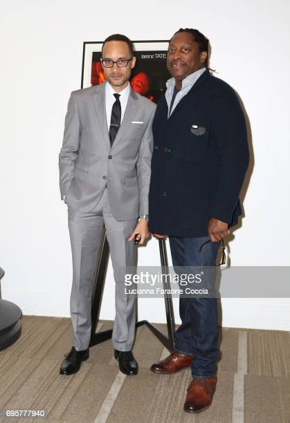 Writer/director Theodore Witcher and musician Darryl Jones attend The Academy of Motion Picture Arts and Sciences' 20th anniversary celebration of...
