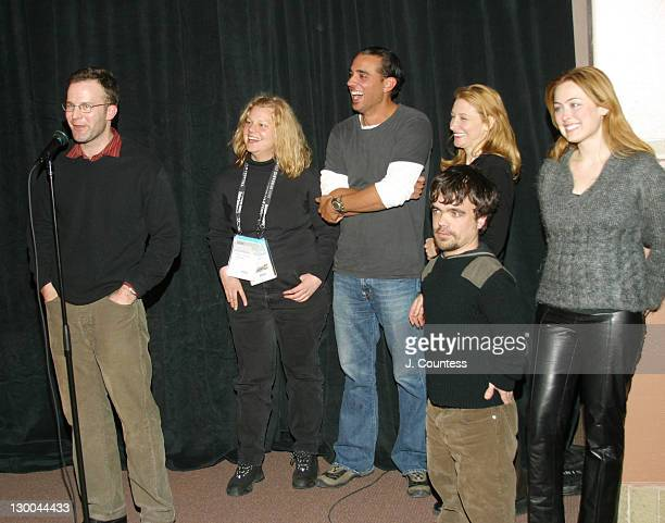 Writer/director Thomas McCarthy producer Mary Jane Skalski Bobby Cannavale Peter Dinklage Patricia Clarkson and producer Kathryn Tucker