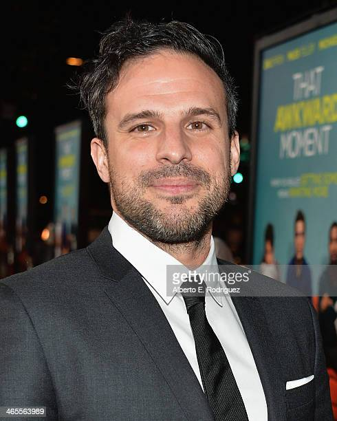 Writer/director Tom Gormican arrives to the premiere of Focus Features' 'That Awkward Moment' at Regal Cinemas LA Live on January 27 2014 in Los...
