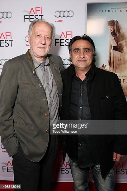 Writer/director Werner Herzog and producer Nick Raslan attend the special screening of 'Queen of the Desert' during AFI FEST 2015 presented by Audi...