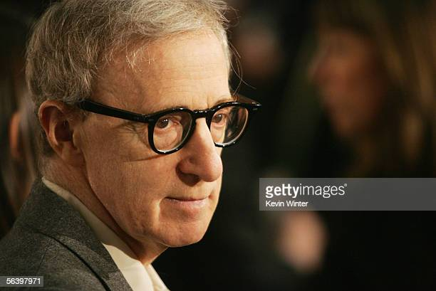 Writer/director Woody Allen arrives at the premiere of DreamWorks' Match Point at the Los Angeles County Museum of Art on December 8 2005 in Los...