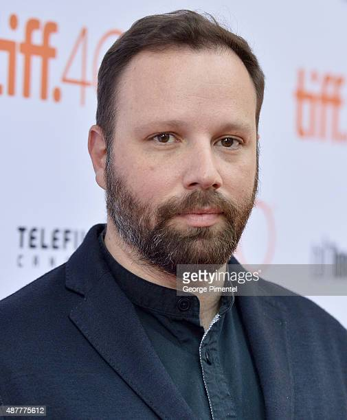 Writer/director Yorgos Lanthimos attends The Lobster premiere during the 2015 Toronto International Film Festival at Princess of Wales Theatre on...
