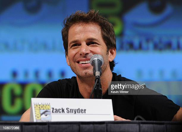 """Writer/Director Zack Snyder speaks onstage at the """"Sucker Punch"""" panel discussion during Comic-Con 2010 at San Diego Convention Center on July 24,..."""