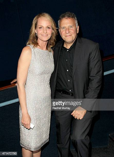 Writer/Director/Actor Helen Hunt and actor Paul Reiser attend the Los Angeles premiere of Ride at ArcLight Cinemas on April 28 2015 in Hollywood...