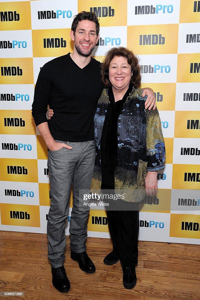 Writer/director/actor John Krasinski (L) and actress Margo Martindale in The IMDb Studio In Park City, Utah: Day Three - on January 24, 2016 in Park City, Utah.