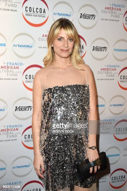 Writer/director/actor Melanie Laurent arrives for the opening night of the 2018 COLCOA French Film Festival April 23 2018 at the Directors Guild of...