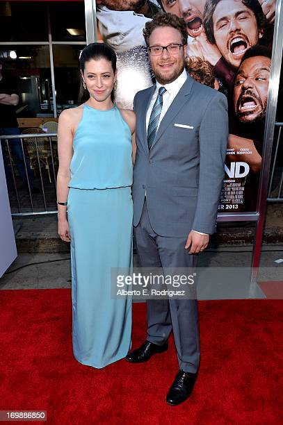Writer/director/actor Seth Rogen and Lauren Miller attend Columbia Pictures' This Is The End premiere at Regency Village Theatre on June 3 2013 in...