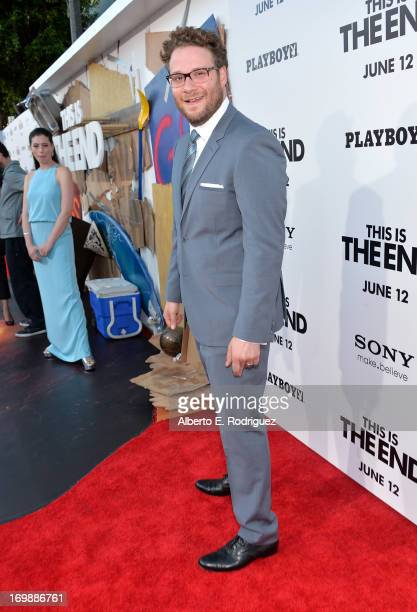 Writer/director/actor Seth Rogen attends Columbia Pictures' This Is The End premiere at Regency Village Theatre on June 3 2013 in Westwood California