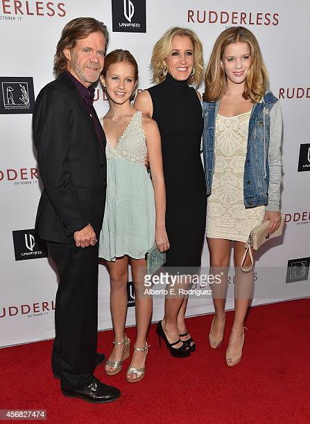 Writer/director/actor William H Macy Grace Macy actress Felicity Huffman and Sophia Macy attend the Screening Of Samuel Goldwyn Films' Rudderless at...