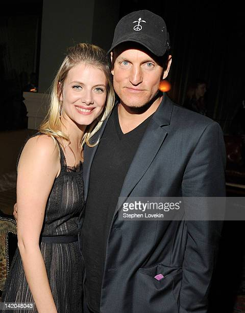 Writer/director/actress Melanie Laurent and actor Woody Harrelson attend the after party for the Cinema Society Dior Beauty screening of 'The...