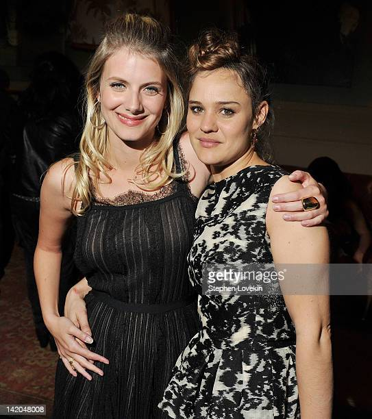 Writer/director/actress Melanie Laurent and actress Marie Denarnaud attend the after party for the Cinema Society Dior Beauty screening of 'The...