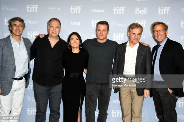 Writer/director/producer Alexander Payne screenwriter Jim Taylor actors Hong Chau Matt Damon Christoph Waltz and executive producer Mark Johnson...