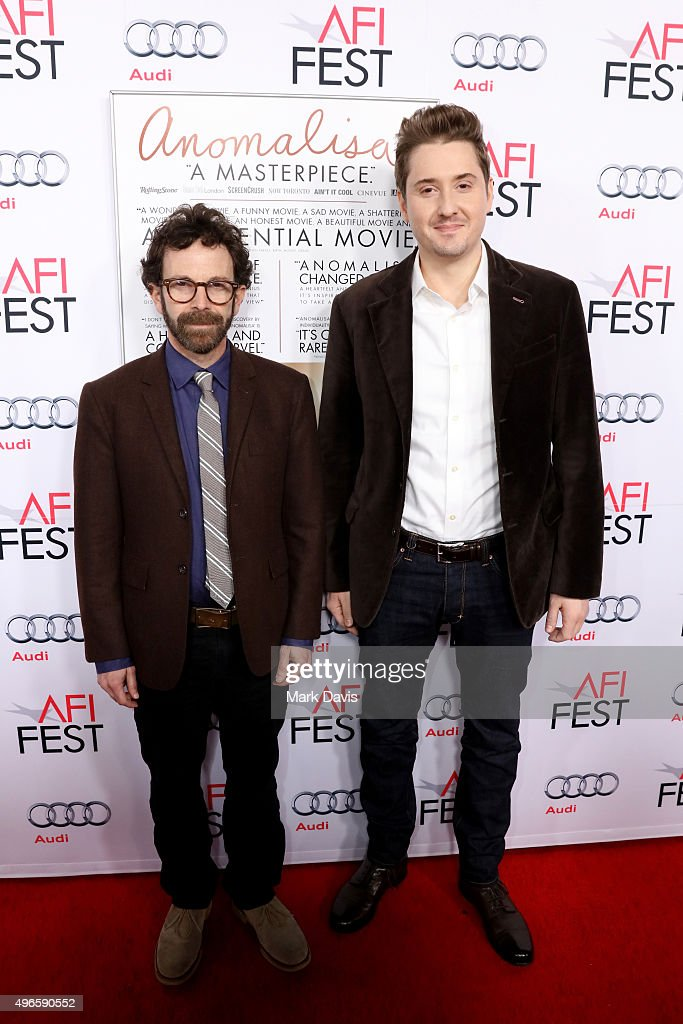 Writer/director/producer Charlie Kaufman (L) and director/producer Duke Johnson attend the screening and Q&A for the Paramount Pictures film 'Anomalisa' at the Egyptian Theater on November 10, 2015 in Hollywood, California.