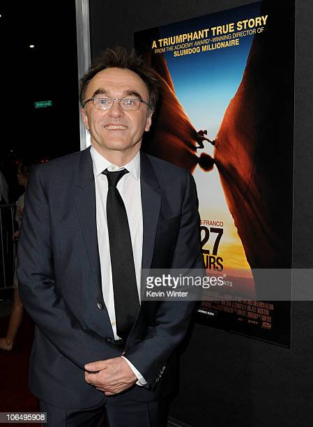 Writer/director/producer Danny Boyle arrives at the premiere of Fox Searchlight Pictures' 127 Hours at the Academy Of Motion Picture Arts and...
