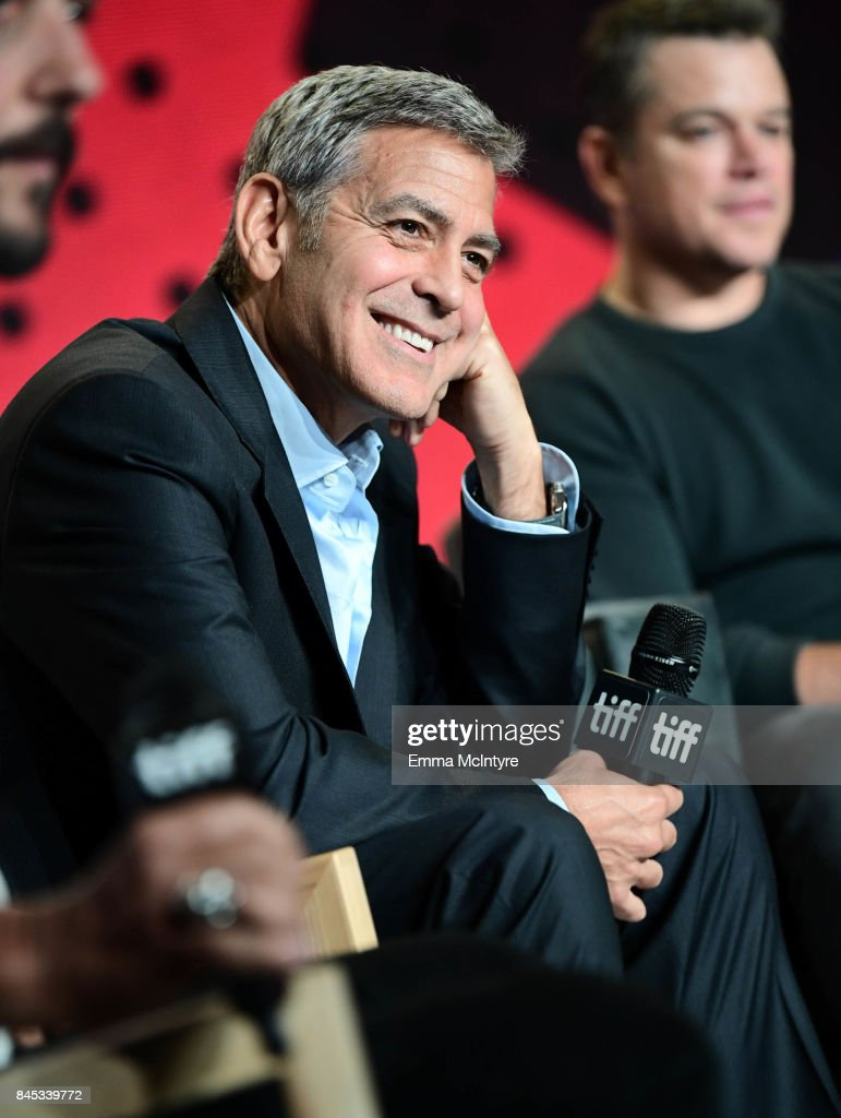 Writer/director/producer George Clooney at the 'Suburbicon' press conference during the 2017 Toronto International Film Festival held at TIFF Bell Lightbox on September 10, 2017 in Toronto, Canada.