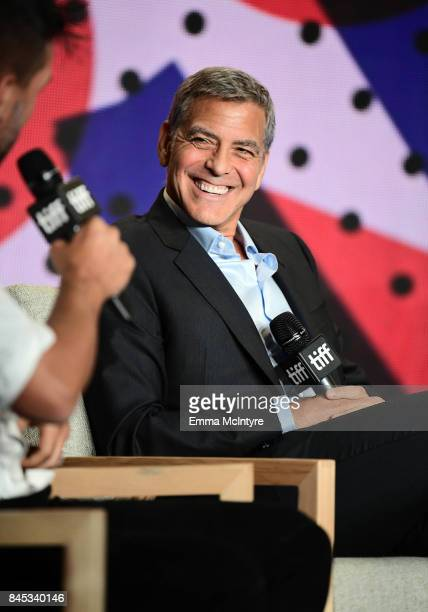 Writer/director/producer George Clooney at the 'Suburbicon' press conference during the 2017 Toronto International Film Festival held at TIFF Bell...