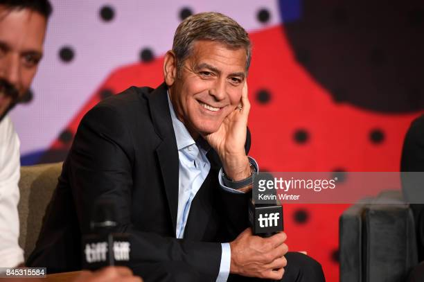 Writer/director/producer George Clooney speaks onstage at the 'Suburbicon' press conference during the 2017 Toronto International Film Festival at...