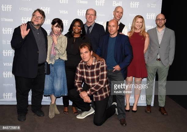Writer/director/producer Guillermo del Toro actors Octavia Spencer Michael Shannon Richard Jenkins producer J Miles Dale actor Doug Jones...