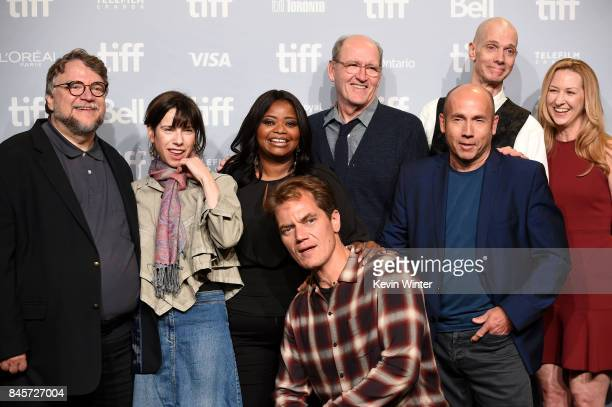 Writer/director/producer Guillermo del Toro actors Octavia Spencer Michael Shannon Richard Jenkins producer J Miles Dale actor Doug Jones and...