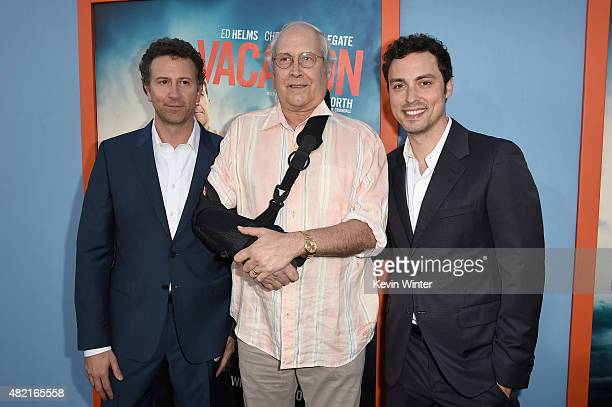 Writer/director/producer Jonathan Goldstein actor Chevy Chase and writer/director/producer John Francis Daley attend the premiere of Warner Bros...