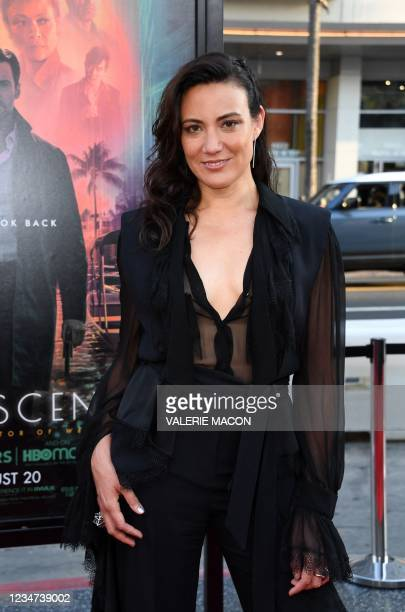 """Writer/director/producer Lisa Joy arrives for the Warner Bros premiere of """"Reminiscence"""" at the TCL Chinese theatre on August 17, 2021 in Hollywood,..."""