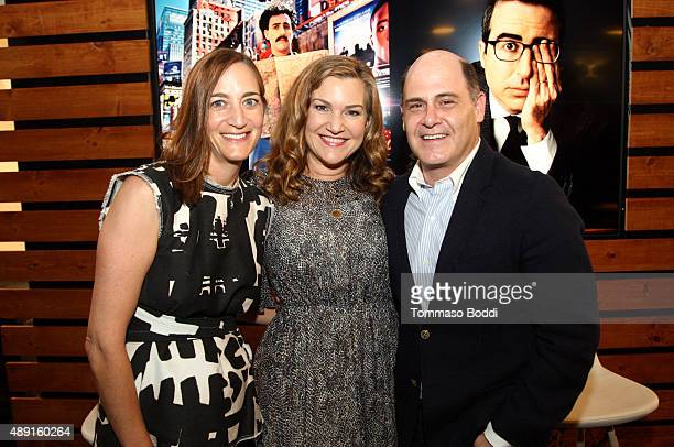 Writer/Director/Producer Matthew Weiner poses onstage with Vanity Fair's West Coast Editor Krista Smith and Vanity Fair's Associate Publisher Jenifer...
