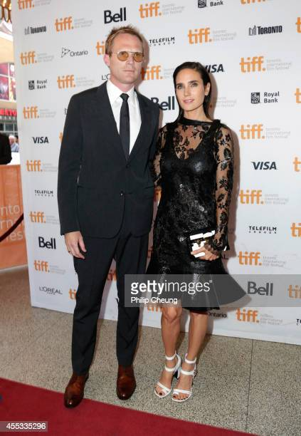 Writer/Director/Producer Paul Bettany and actress Jennifer Connelly attend the Shelter premiere during the 2014 Toronto International Film Festival...