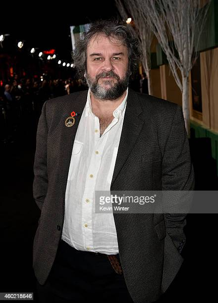 Writer/director/producer Peter Jackson attends the premiere of New Line Cinema MGM Pictures and Warner Bros Pictures' The Hobbit The Battle of the...