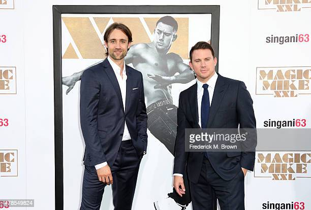Writer/director/producer Reid Carolin and actor/producer Channing Tatum attend the premiere of Warner Bros Pictures' Magic Mike XXL at TCL Chinese...
