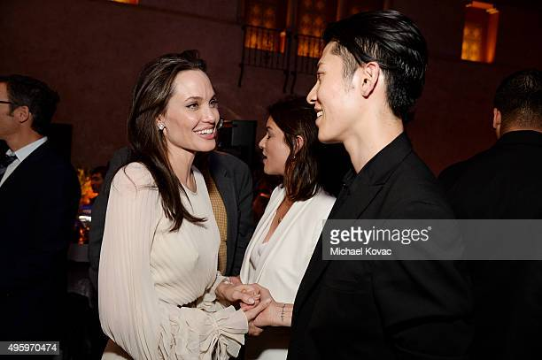 Writerdirectorproduceractress Angelina Jolie Pitt and actor Miyavi attend the after party for the opening night gala premiere of Universal Pictures'...